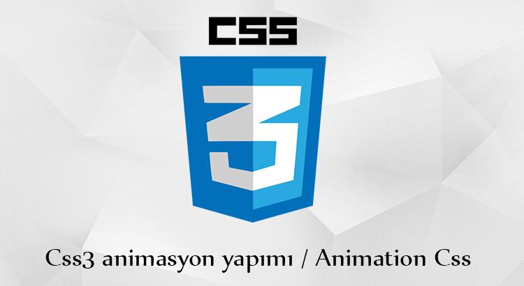 css3 animasyon yapımı